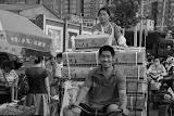Shanghai - Marché poisson - Cargaaison à vélo