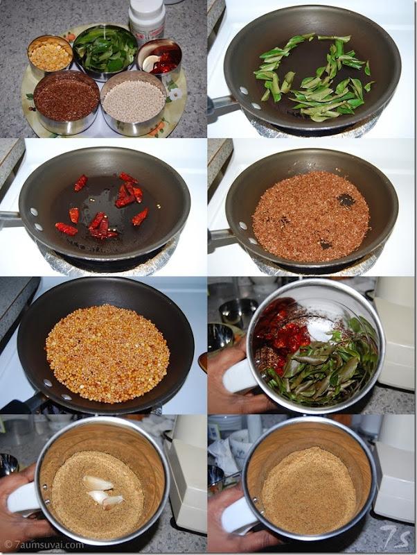 Flax seeds idly podi process