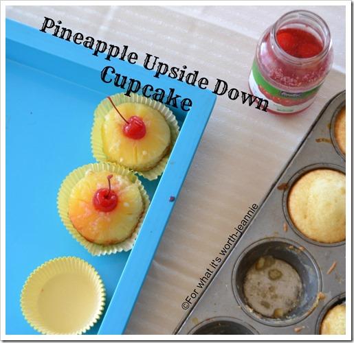 Pineapple Upsidedown Cupcake