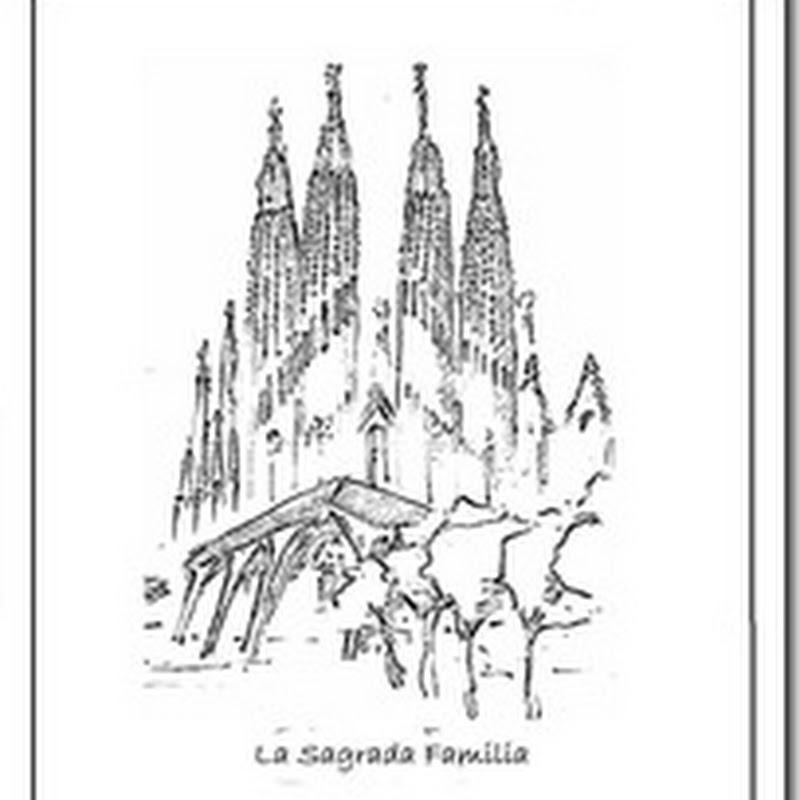 Colorear obras de Gaudí, Pedrera, Güell y S. Familia