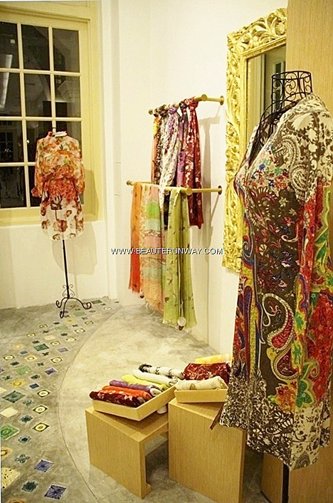 Pashma Spring Summer 2013 collection luxurious cashmere, silk linen scarves, wraps, resort wear accessories silk blouses, flowy kaftans signature paisley motifs  vibrant floral prints sequined  patterns new designs flagship store