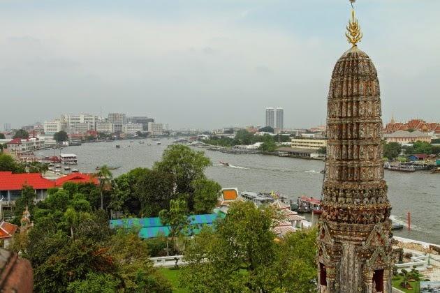 A river view from Wat Arun, Bangkok