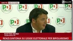 Renzi. Sintonia profunda com Forza Itália de Berlusconi. Jan.2014