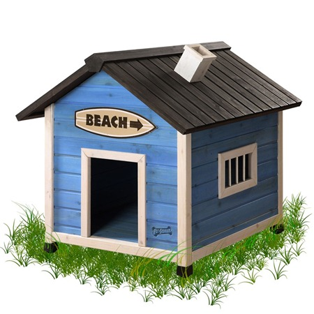 Beach House Medium Dog House-2