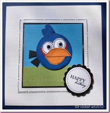 Blue Angry Bird Birthday card...