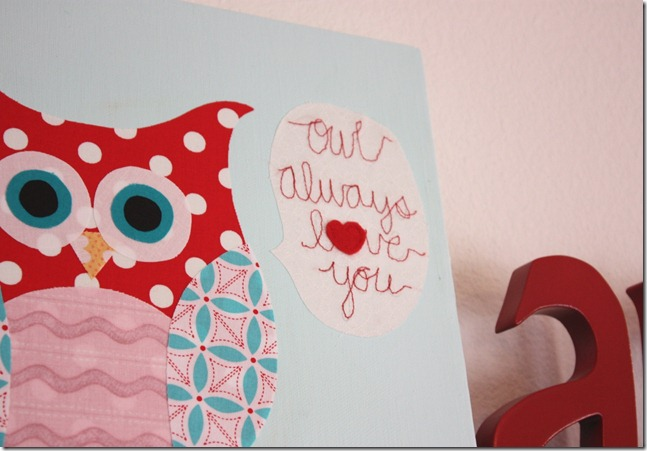 Owl Always Love You Stitching