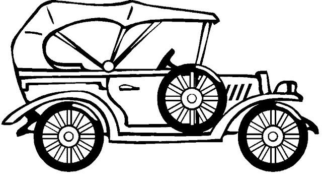 Dibujo de un autos antiguos colorear - Imagui