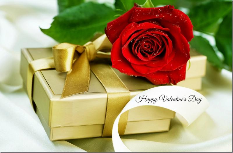 Valentines Day ~ Friday, February 14, 2014 ~ Happy Valentine's Day ~ Image ~ Happy Valentine's Day ~ Red Rose and Valentine's Day Gift