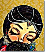 [Mother Yashoda holding Krishna]