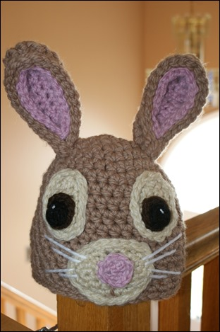 Full view of front of Darlas Bunny hat