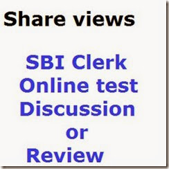 SBI Clerk Exam discussion