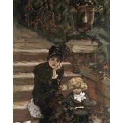 Tissot, James Jacques ~Reverie in the Garden~