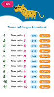 Screenshot of Quix Times Tables