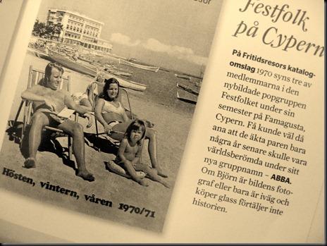 Festfolk Abba på Cypern 1970