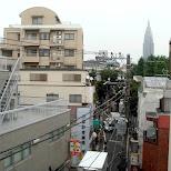 docomo tower seen from sangubashi in Tokyo, Tokyo, Japan