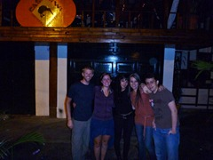 With Paulina, Blanca, and Daniel outside of CasaKiwi in Medellin.