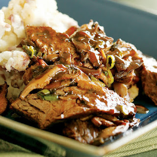 Beer-Braised Sirloin Tips with Mushroom Sauce