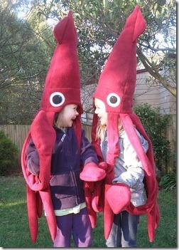 2 disfraz de calamar