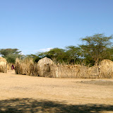 a Turkana village