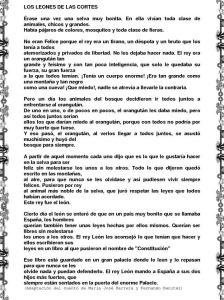 LOS LEONES DE LAS CORTES (CUENTO)