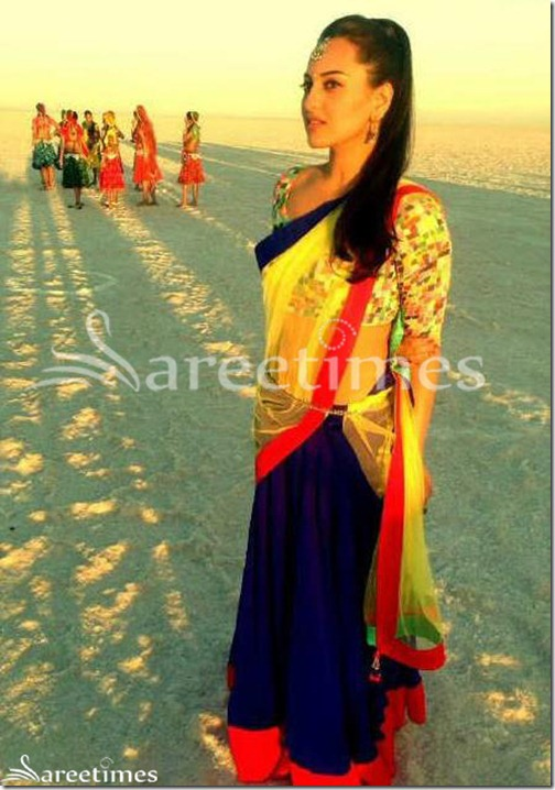 Sonakshi_Sinha_Half_Saree
