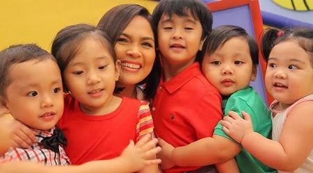 Judy Ann Santos and the babies at the Baby Dome