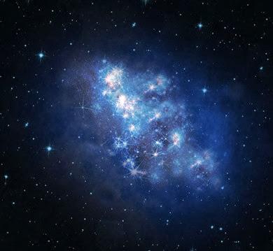 ilustração da galáxia z8_GND_5296