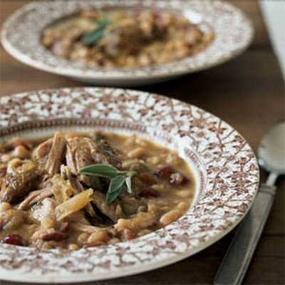 Pork Roast with White Beans and Cranberries