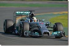 Hamilton nelle prove libere del gran premio d'Australia 2014