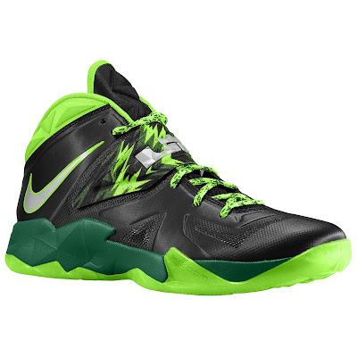 nike zoom soldier 7 gr black neon green 2 05 eastbay LEBRONs Nike Zoom Soldier VII $135 Pack Available at Eastbay