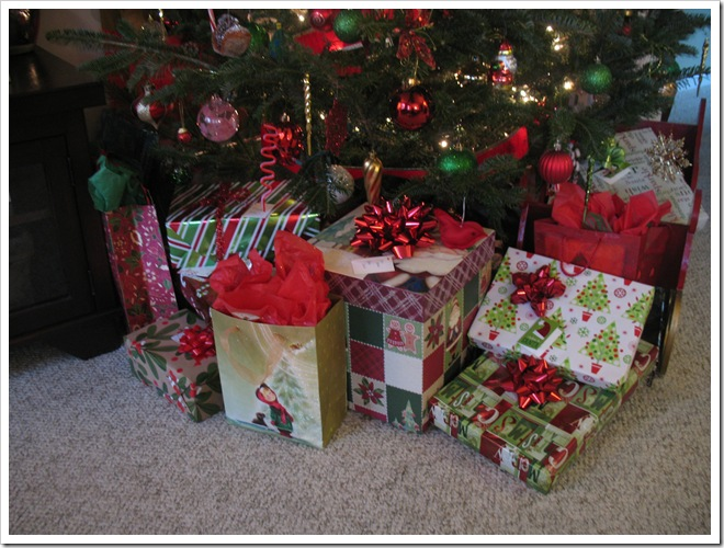 Its A Horvaths Life Pile O Presents And Christmas Card Display