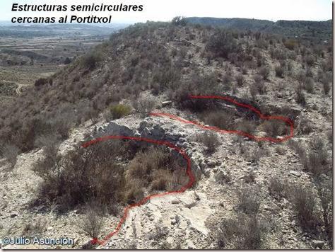 Estructuras semicirculares cercanas al Portitxol - Monforte del Cid