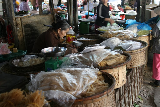 Each noodle is carefully hand rollen and takes four hands three hours to complete.