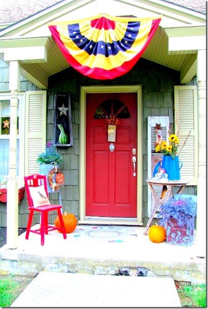 Red Fall Door