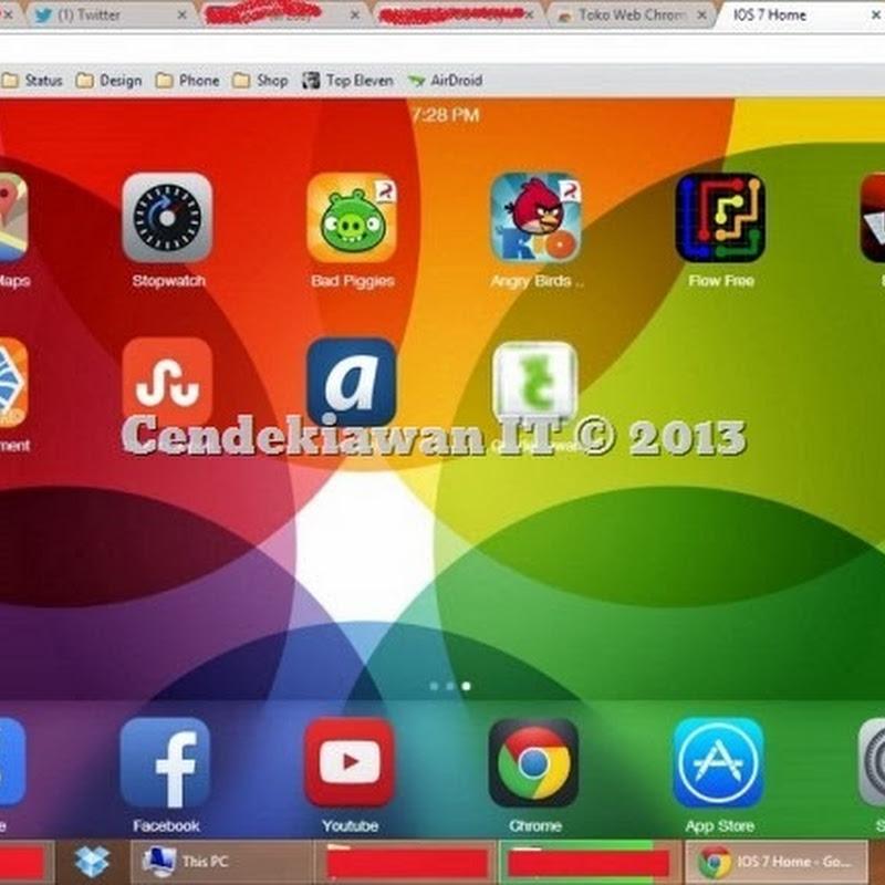 Cara Mengubah Tema iOS 7 Pada Google Chrome