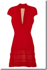 Catherine Malandrino Red Pointelle Knit Dress
