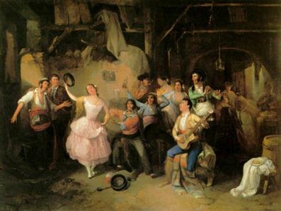 Juerga flamenca en la feria (1854)