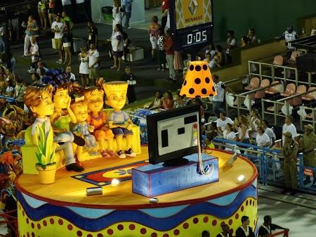 Carnavalul de la Rio:  Cine nu ajunge le Rio, poate vedea Carnavalul la televizor