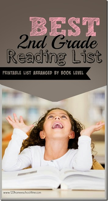 Best 2nd Grade Reading List - over 40 amazing books kids will love on a free printable list arranged by book level! Great for parents, teachers, and homeschoolers.