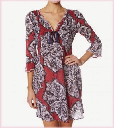 #261c Topping short dress mid red