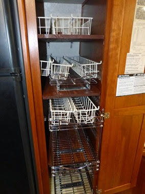 New Pantry Shelves with Old Racks showing increased space gained.