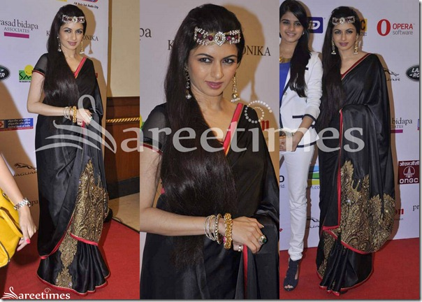Bhagyashree_Black_Saree