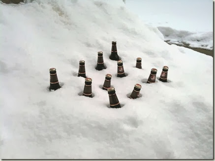 beer and snow