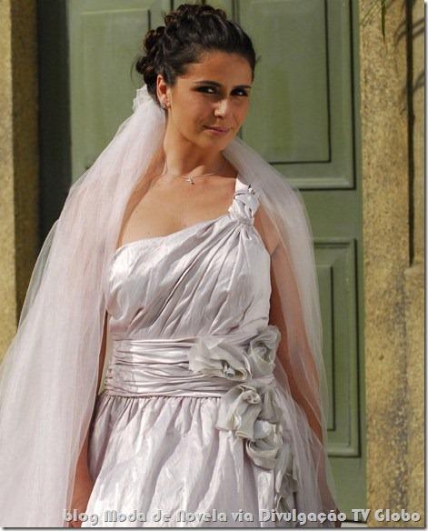 moda da novela três irmãs - vestido de noiva da alma