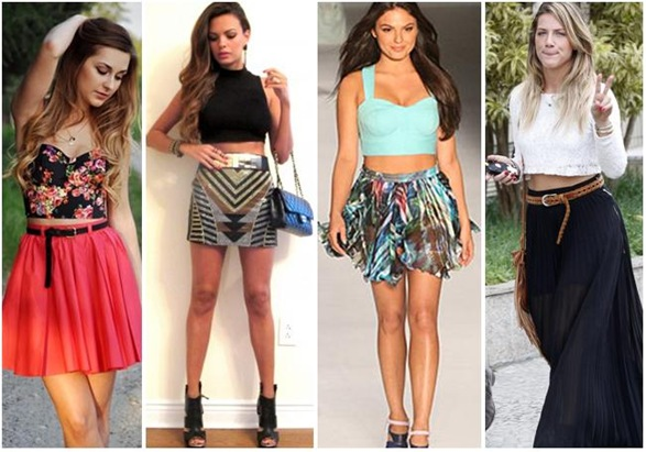 Cropped top looks
