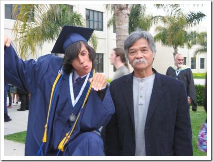 Nathan and Grandpa Graduation