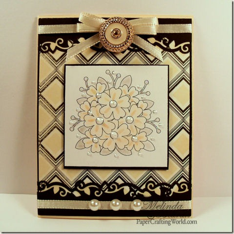 floral bouquet card-475