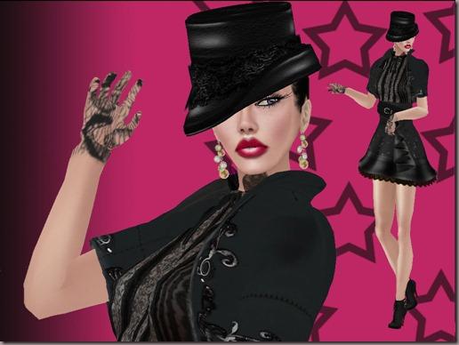 aDiva Couture Monochrome DressPic