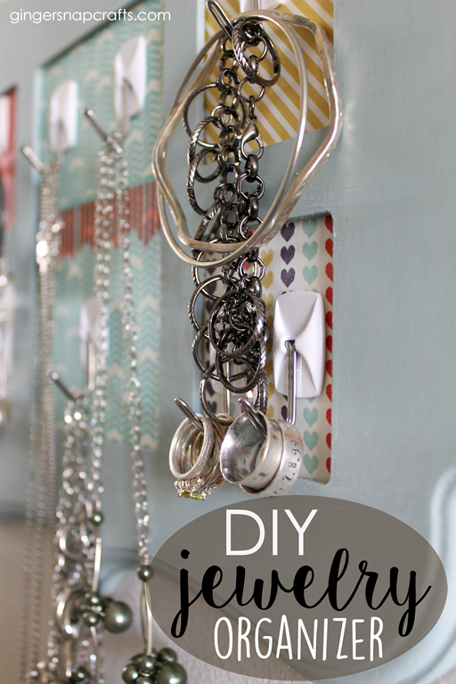 DIY Jewelry Organizer at GingerSnapCrafts.com