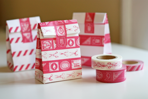 washi tape envelope gift bags tutorial
